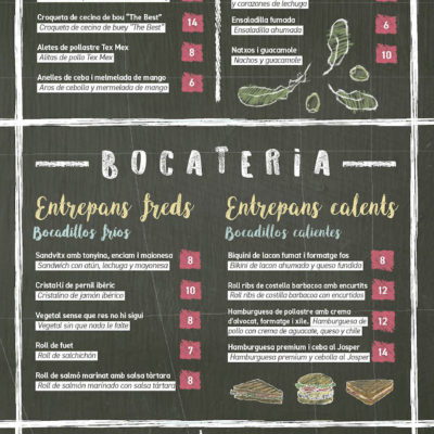 Carta Bocateria 2018 – La Daurada Beach Club